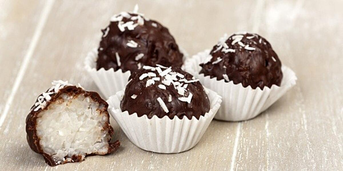 Chocolate covered coconut candy