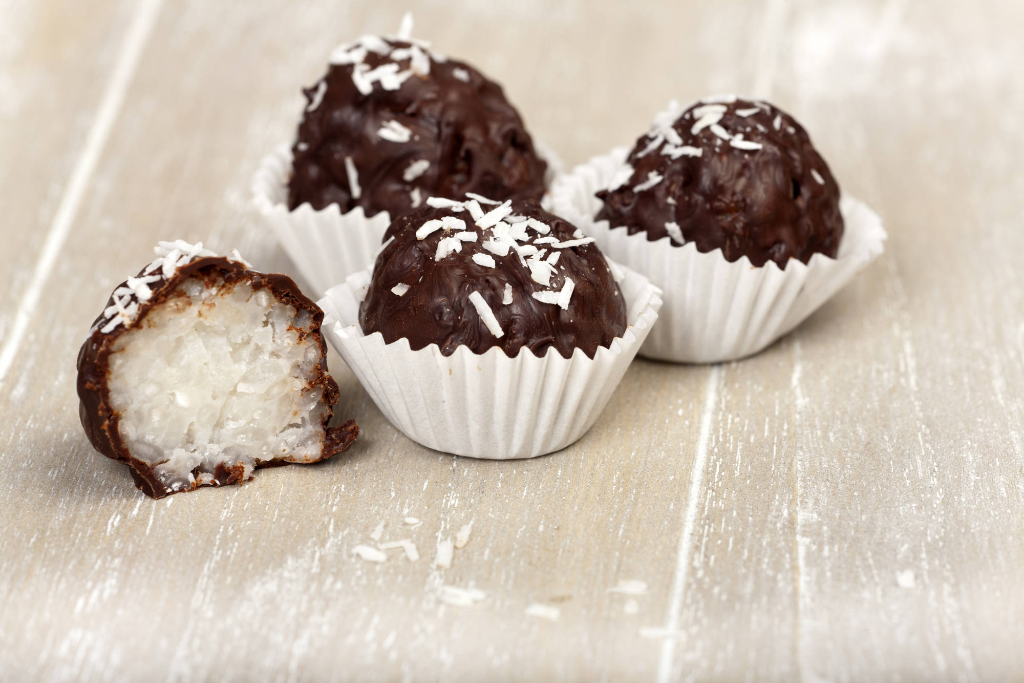 Chocolate covered coconut cany