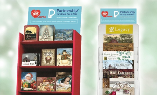 IGA Cares and Partnership for Drug-Free Kids Legacy Christmas Cards