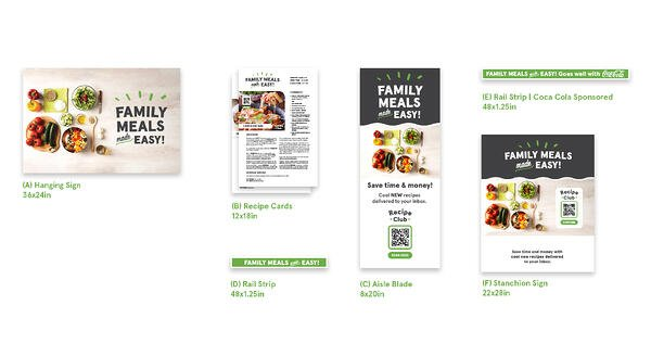 Family Meals Made Easy! signage