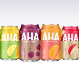 New from Coca-Cola: AHA! sparkling water