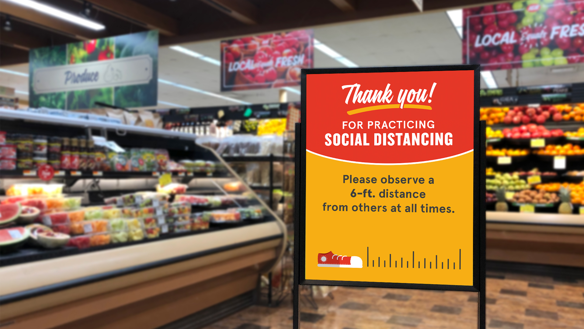 Social Distancing Sign In Store