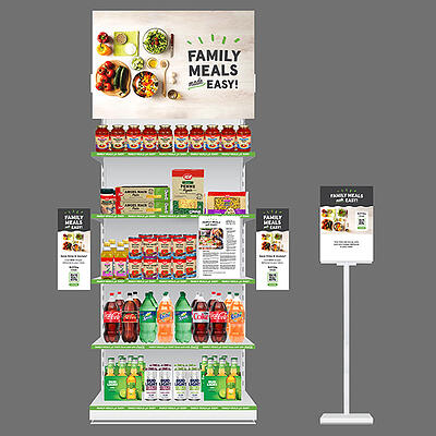 Family Meals Made Easy! end-cap