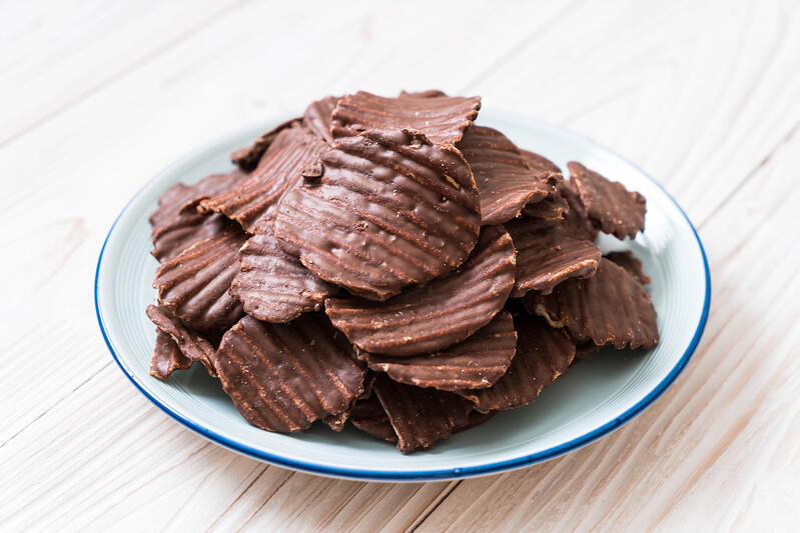 chocolate covered potatoe chips
