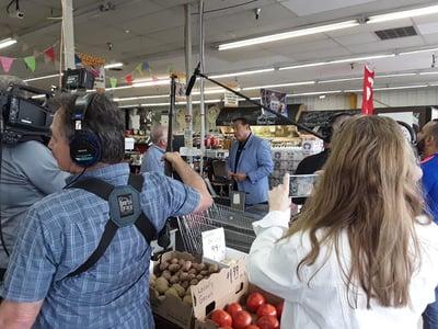 film crew in action