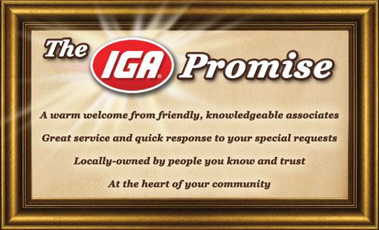 The IGA Promise logo