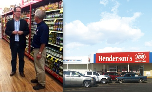 Congressional visit to Hendersons's IGA store