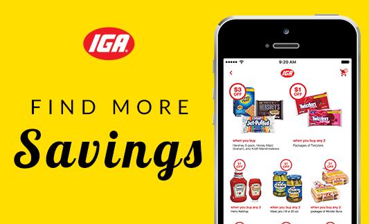 Phone displaying IGA Digital National Ad