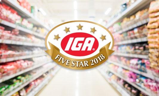 IGA Five Star Recognition Logo