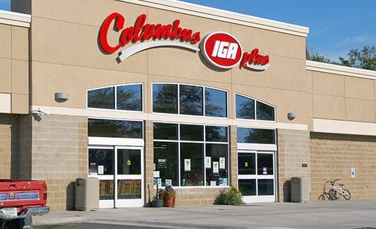 Columbus IGA storefront