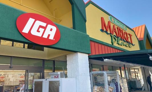 Outside of IGA Market Place