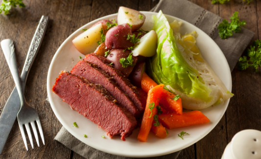 Picture of corned beef and cabbage