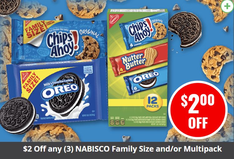$2 Off any (3) NABISCO Family Size and/or Multipack Cookies 12 to 28.8 oz.