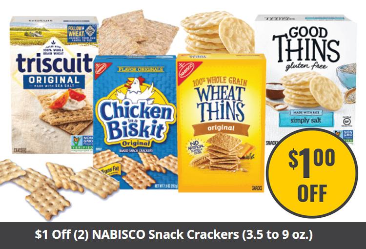 $1 Off (2) NABISCO Snack Crackers (3.5 to 9 oz.)
