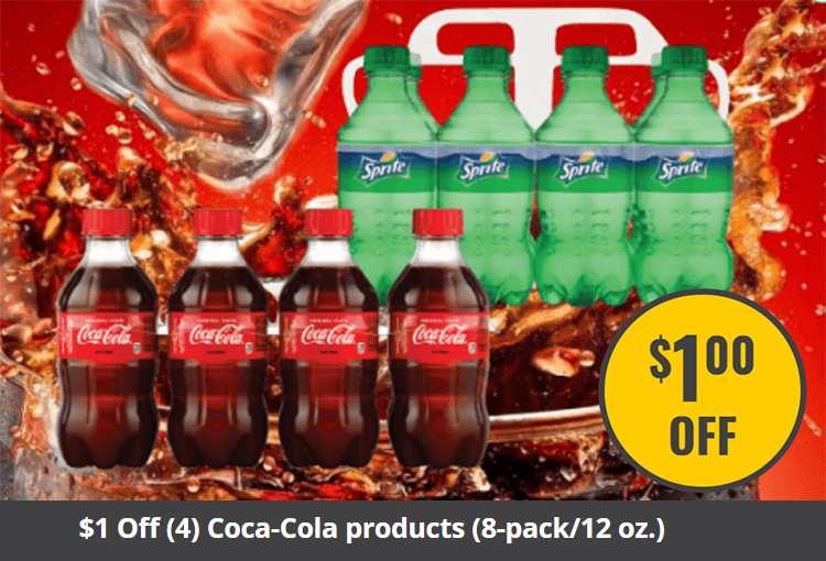 $1 Off (4) Coca-Cola products (8-pack/12 oz.)