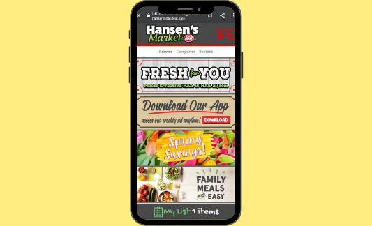 Hansen's Markets IGA digital ad