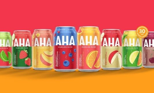 AHA! flavored sparkling water