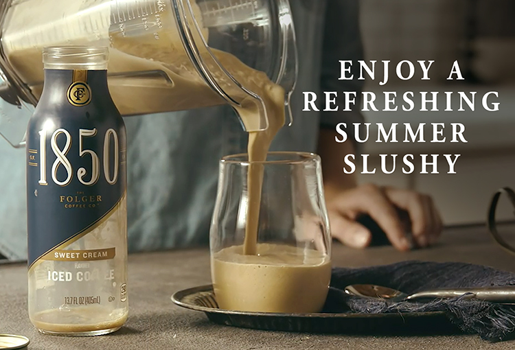 1850 Folgers Iced Coffee Slushy